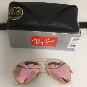 Ray Ban Aviator Flash Pink Sunglasses